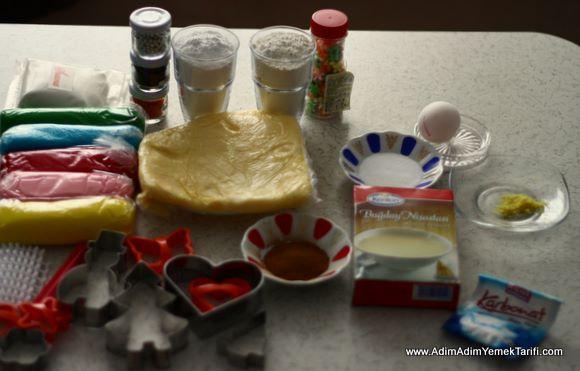 Şeker Hamurlu Kurabiye Malzemeleri